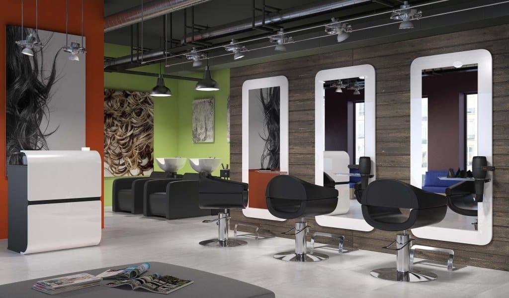 mobilier salon de coifure